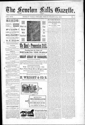 Fenelon Falls Gazette, 15 Mar 1889