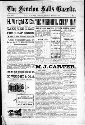 Fenelon Falls Gazette, 3 May 1889