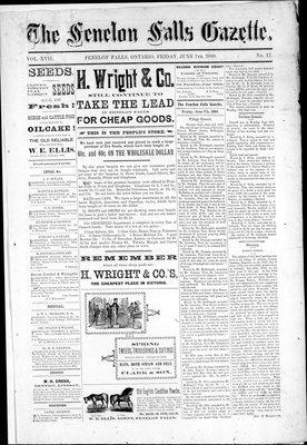 Fenelon Falls Gazette, 7 Jun 1889