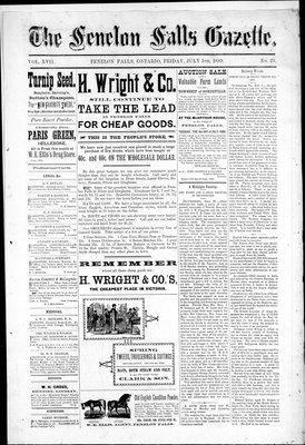 Fenelon Falls Gazette, 5 Jul 1889
