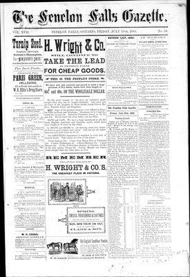 Fenelon Falls Gazette, 19 Jul 1889