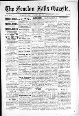 Fenelon Falls Gazette, 6 Sep 1889