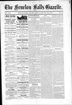Fenelon Falls Gazette, 10 Jan 1890