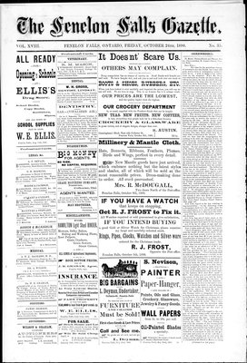 Fenelon Falls Gazette, 24 Oct 1890