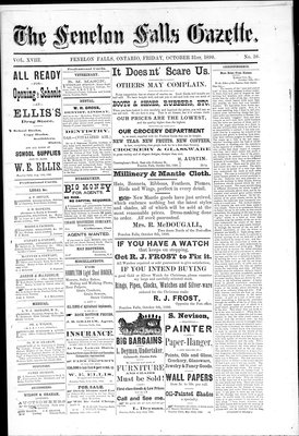 Fenelon Falls Gazette, 31 Oct 1890