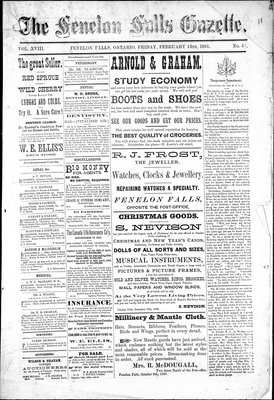 Fenelon Falls Gazette, 13 Feb 1891