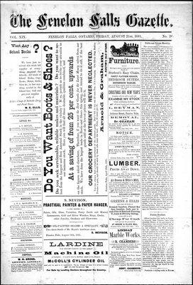 Fenelon Falls Gazette, 21 Aug 1891