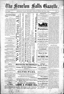 Fenelon Falls Gazette, 19 Feb 1892