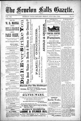 Fenelon Falls Gazette, 22 Jul 1892