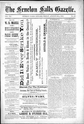 Fenelon Falls Gazette, 26 Aug 1892