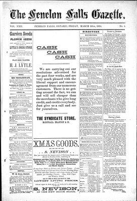 Fenelon Falls Gazette, 16 Mar 1894