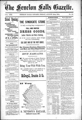 Fenelon Falls Gazette, 24 Aug 1894