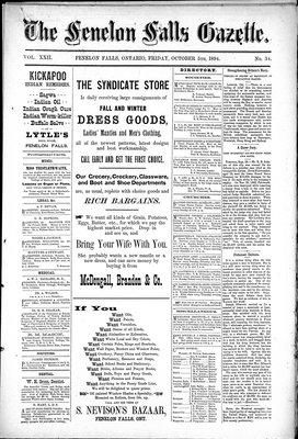 Fenelon Falls Gazette, 5 Oct 1894