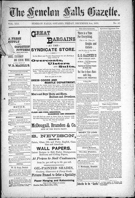 Fenelon Falls Gazette, 8 Dec 1893