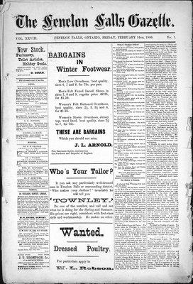 Fenelon Falls Gazette, 16 Feb 1900