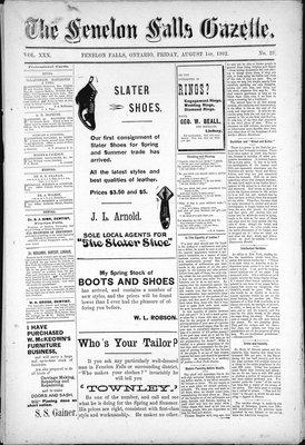 Fenelon Falls Gazette, 1 Aug 1902