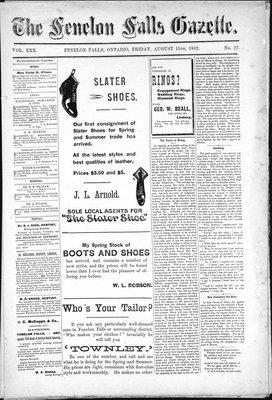 Fenelon Falls Gazette, 15 Aug 1902