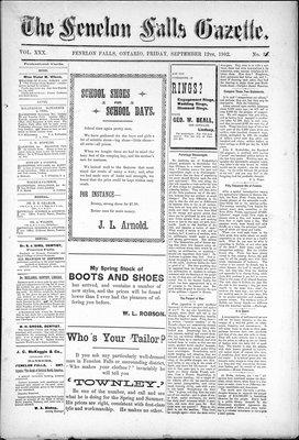 Fenelon Falls Gazette, 12 Sep 1902