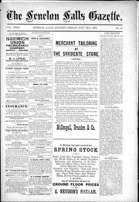Fenelon Falls Gazette, 26 Jul 1895