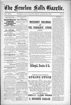 Fenelon Falls Gazette, 2 Aug 1895