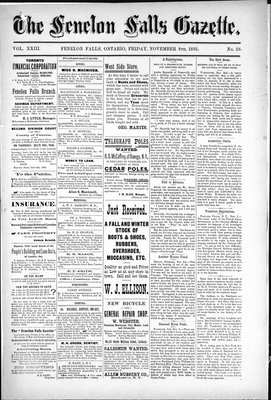 Fenelon Falls Gazette, 8 Nov 1895