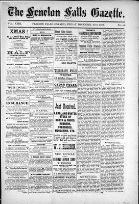 Fenelon Falls Gazette, 27 Dec 1895