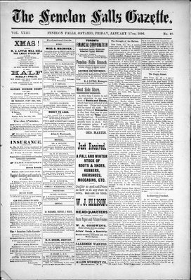 Fenelon Falls Gazette, 17 Jan 1896