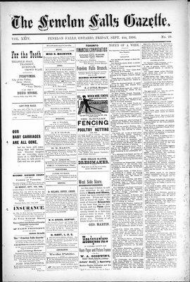 Fenelon Falls Gazette, 4 Sep 1896