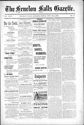Fenelon Falls Gazette, 27 Nov 1896