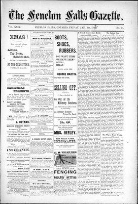 Fenelon Falls Gazette, 1 Jan 1897