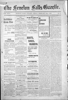 Fenelon Falls Gazette, 25 Feb 1898