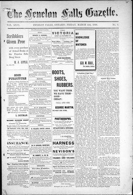 Fenelon Falls Gazette, 4 Mar 1898