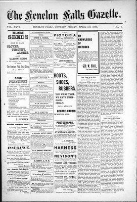 Fenelon Falls Gazette, 1 Apr 1898