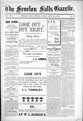 Fenelon Falls Gazette, 2 Sep 1898