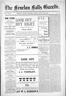 Fenelon Falls Gazette, 30 Sep 1898