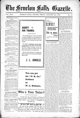 Fenelon Falls Gazette, 2 Jan 1903