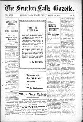 Fenelon Falls Gazette, 6 Mar 1903