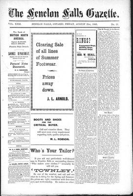 Fenelon Falls Gazette, 21 Aug 1903