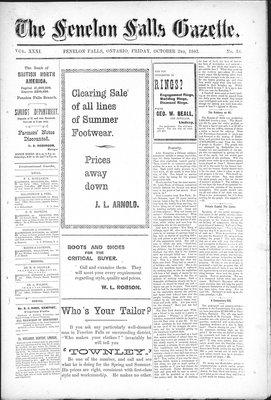 Fenelon Falls Gazette, 2 Oct 1903