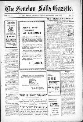 Fenelon Falls Gazette, 25 Dec 1903