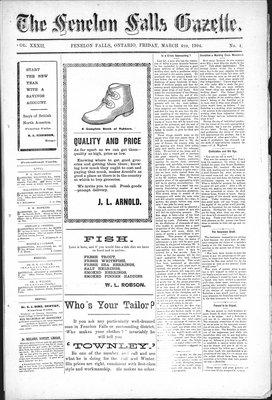 Fenelon Falls Gazette, 4 Mar 1904