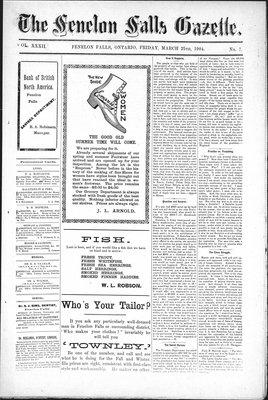 Fenelon Falls Gazette, 25 Mar 1904