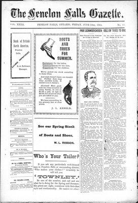 Fenelon Falls Gazette, 3 Jun 1904