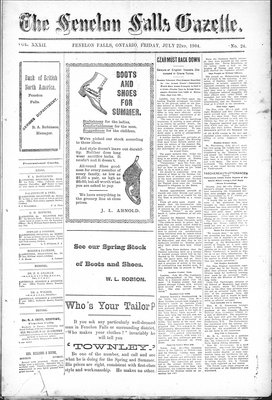 Fenelon Falls Gazette, 22 Jul 1904