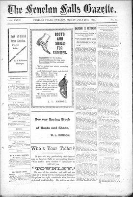 Fenelon Falls Gazette, 29 Jul 1904