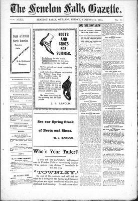 Fenelon Falls Gazette, 5 Aug 1904