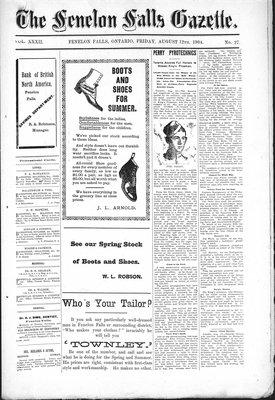 Fenelon Falls Gazette, 12 Aug 1904
