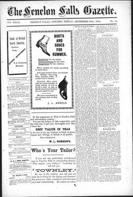 Fenelon Falls Gazette, 30 Sep 1904