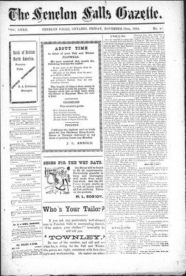 Fenelon Falls Gazette, 18 Nov 1904