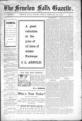 Fenelon Falls Gazette, 17 Feb 1905